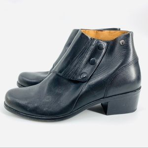 Ariat Black Leather Side Snap Western Ankle Boot